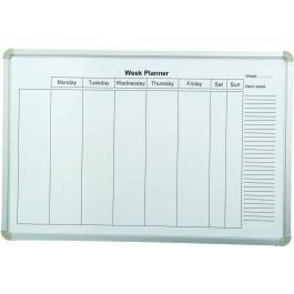 Wall Mounted Magnetic Whiteboard - Weekly Planner