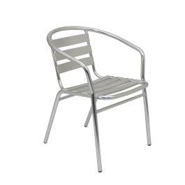 Plaza Aluminium Stacking Bistro Armchair