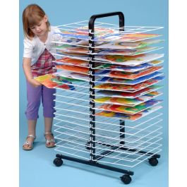 40 Shelf Mobile Art Drying Rack - Small