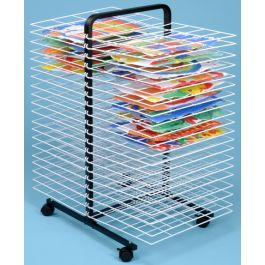 40 Shelf Mobile Art Drying Rack - Large