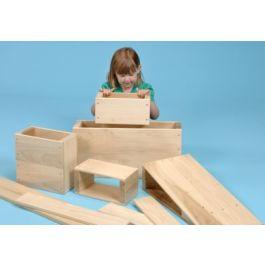 Hollow Wooden Building Blocks Set of  26