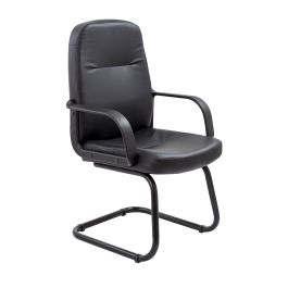 Canasta Leather Look Conference Chair