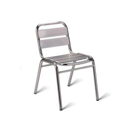 Aluminium Stacking Bistro Side Chair