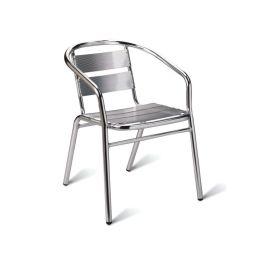Aluminium Stacking Bistro Armchair