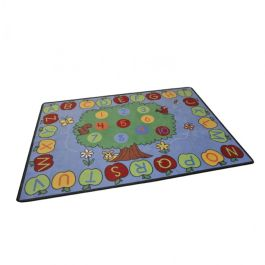 Trees Apples Alphabet and Numbers Classroom Rug