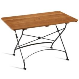 Arch Wrought Iron Classic Folding Garden Table - Rectangular