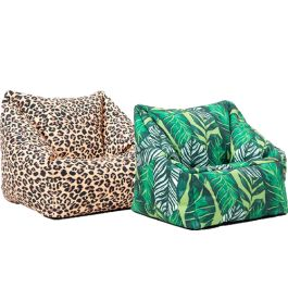Rainforest Themed Nature Print Armchair - Pack of 2
