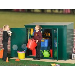 Asgard School Compact Secure Outdoor Metal Storage Shed Pack 5