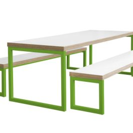 Axiom Breakout Dining Table & Bench Set