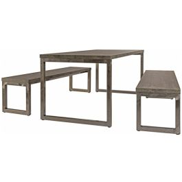 Axiom Rustic Breakout Dining Table and Bench Set