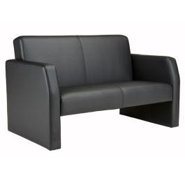 Face Faux Leather Reception  2 Seater Sofa