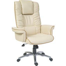 Windsor Luxury Cream Bonded Leather Executive Armchair