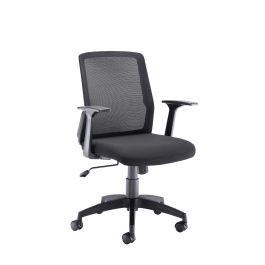 Denali Mid Back Operator Chair - Black Mesh