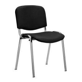Iso Vinyl Chrome Framed Stackable Meeting Chair