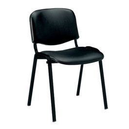 Iso Vinyl Black Framed Stackable Conference/Meeting Chair