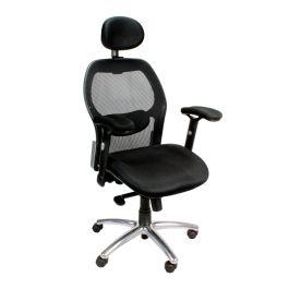 Hermes Office High Back Mesh Executive Armchair With Headrest And Chrome Base