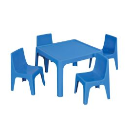 Children's Resin Stacking Chair and Square Classroom Table Set