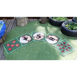 Woodland Counting Indoor and Outdoor Mini Placement Carpets with FREE Holdall