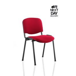 ISO Fabric Stacking Visitor Chair with Black Frame