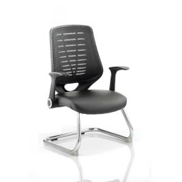 Relay Cantilever Leather Seat with Arms