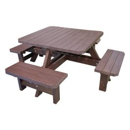 Adult Recycled Plastic Outdoor Picnic Table - Bradbourne