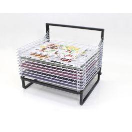 10 Shelf Spring Loaded Floor Drying Rack