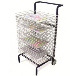 30 Shelf Mobile Art And Print Dryer Rack