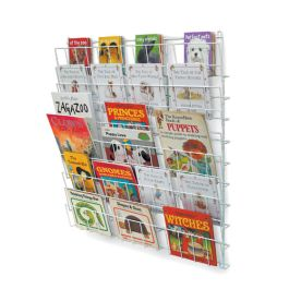 Wall Mounted Square Book Rack
