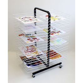 Mobile 40 Shelf Drying Rack With Large Shelves