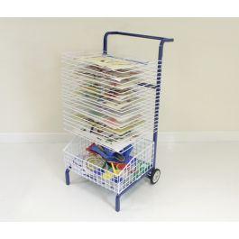 20 Shelf Mobile Painting Drying Rack