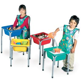 Titchy Tubs Water Play Set of 4 Colour Tubs on Stands