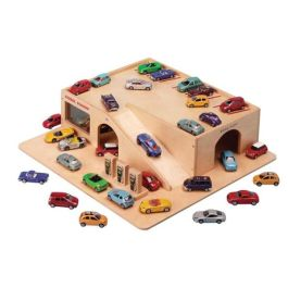 Children's Toy Wooden Car Garage