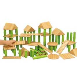 Children's 80 Bamboo Building Blocks