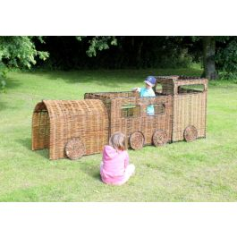 Outdoor Wicker Train and Carriage Play Panel Set