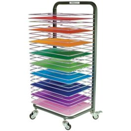25 Shelf Deluxe Mobile Painting Drying Rack