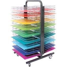 50 Shelf Deluxe Mobile Art Drying Rack