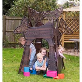 Small Wicker Rattan Tree House Play Den