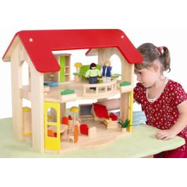 Open Plan Dolls House with Furniture