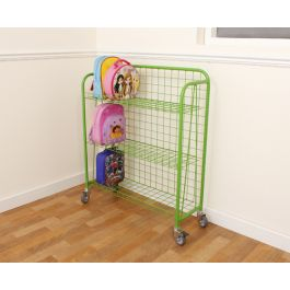 Coloured Single Sided Lunchbox Trolley