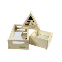 Wooden Play Blocks Mirror Tray Set - Set 3