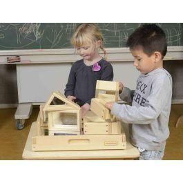 Wooden Mirror Building Blocks-Set of 31