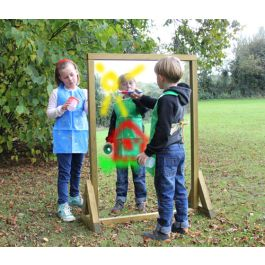 Nursery Outdoor Acrylic Messy Play Painting Mirror