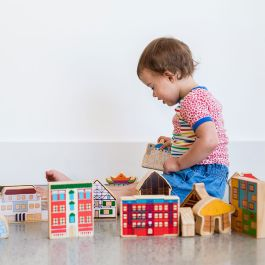 Children's Wooden Play Blocks - Shelters of the World