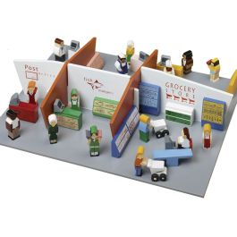 Wooden Shopping Centre Play Set