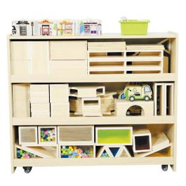 Children's Wooden Storage Unit For Blocks