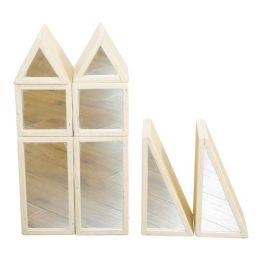 City Wooden Mirror Blocks