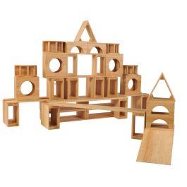 Giant Wooden Hollow Building Block Set of 52