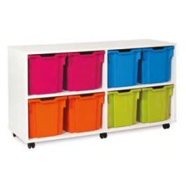 Monarch White Jumbo 6 Tray Classroom Storage Unit