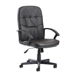 Cavalier Leather Faced High Back Managers Chair
