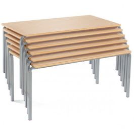 Premium Stacking Classroom Table - Rectangle MDF Edge